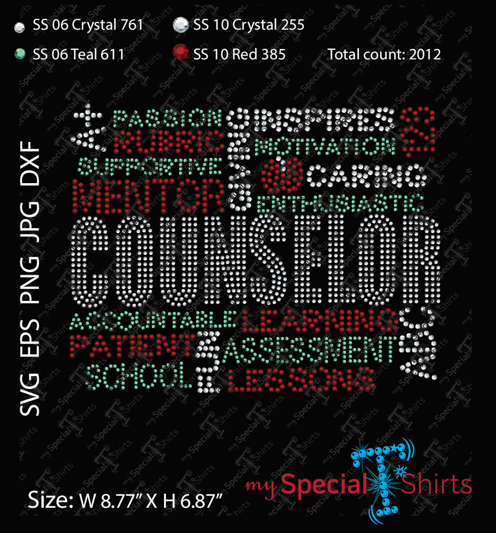 Counselor Rhinestone Digital Download