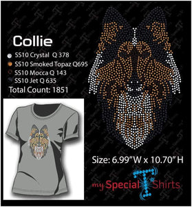 Collie Rhinestone Digital Download Mst - Be Createful - Becreateful.com