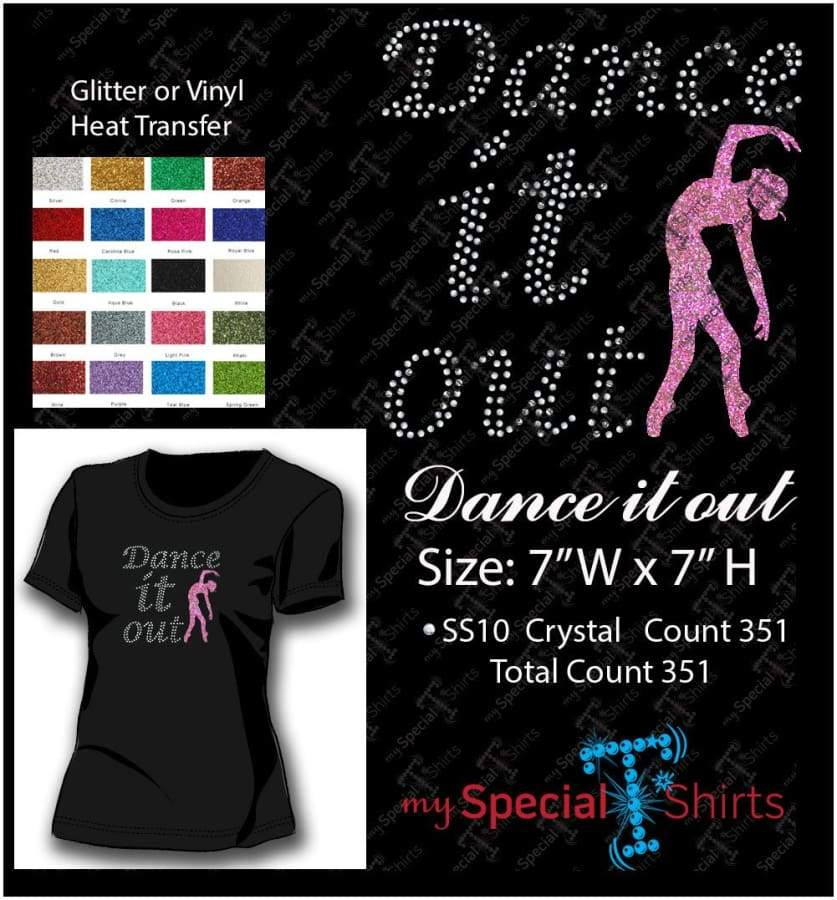 Dance It Out Rhinestone Digital Download Mst - Be Createful - Becreateful.com