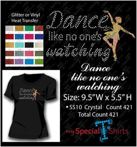 Dance Like No Ones Rhinestone Digital Download Mst - Be Createful - Becreateful.com
