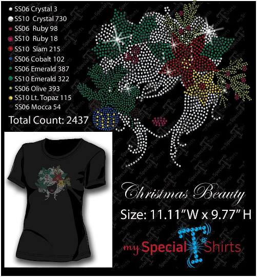 Christmas Beauty Rhinestone Digital Download