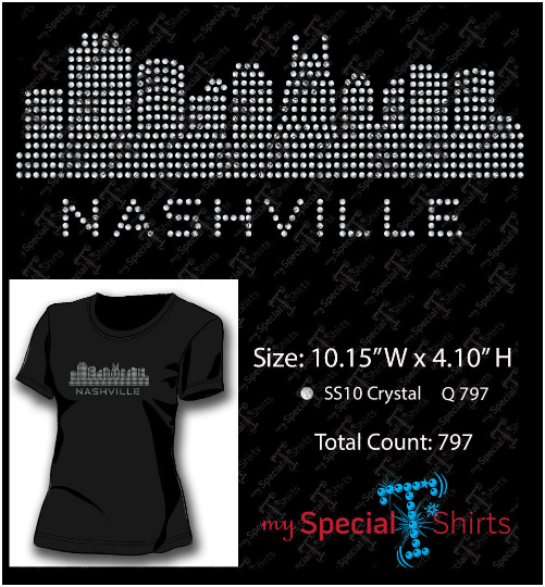 Nashville Skyline Rhinestone Digital Download