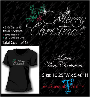 Merry Christmas Rhinestone Digital Download