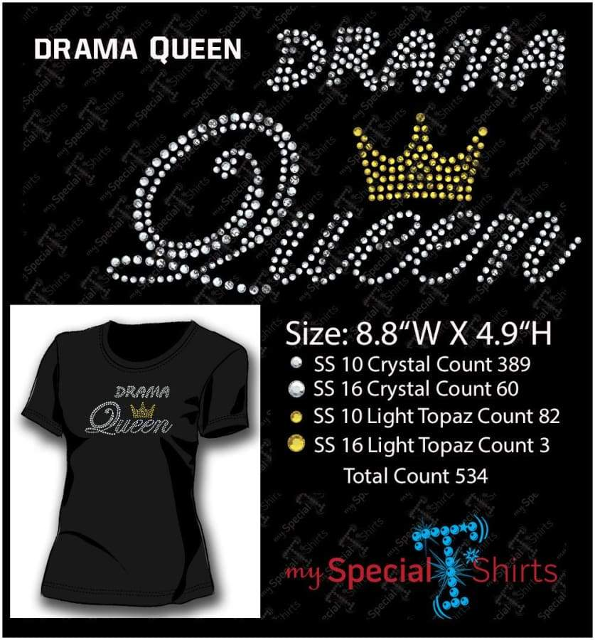 Drama Queen Rhinestone Digital Download Mst - Be Createful - Becreateful.com