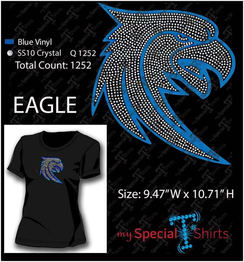 Eagle Rhinestone Digital Download Mst - Be Createful - Becreateful.com