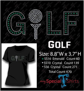 Golf Rhinestone Digital Download Mst - Be Createful - Becreateful.com