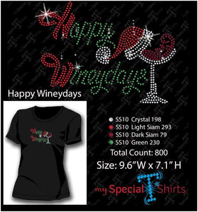 Happy Wineydays Rhinestone Digital Mst - Be Createful - Becreateful.com
