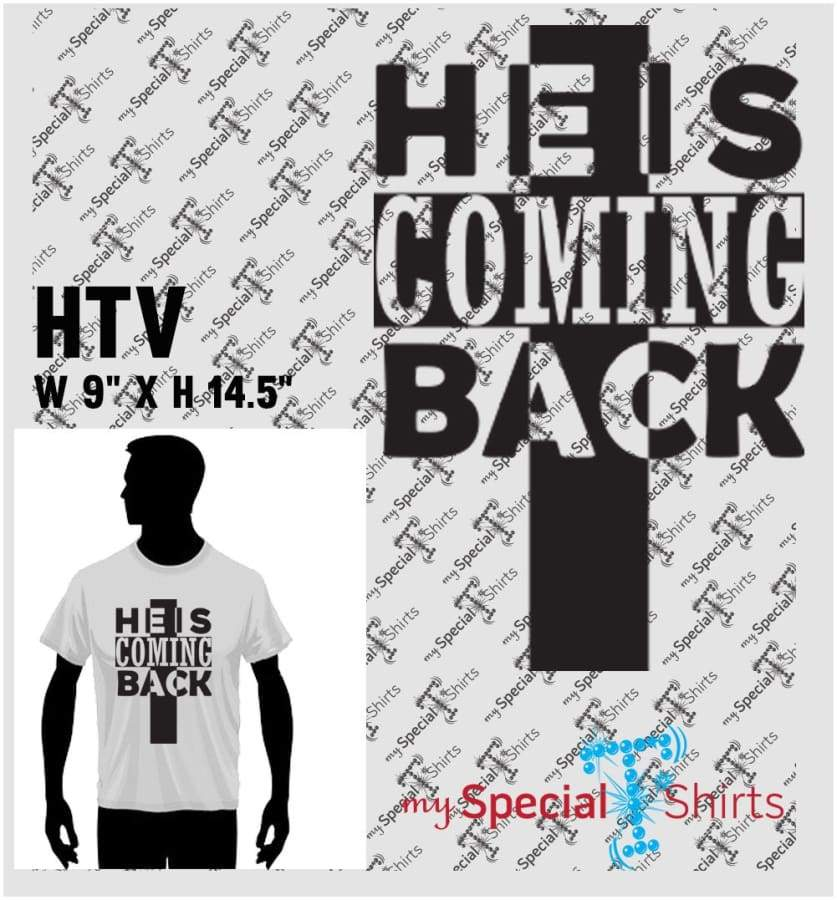 He Is Coming Back 2 Vector Digital Download Mst - Be Createful - Becreateful.com