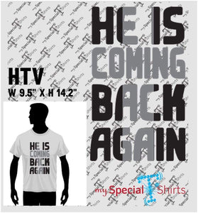 He Is Coming Back 3 Vector Digital Download Mst - Be Createful - Becreateful.com