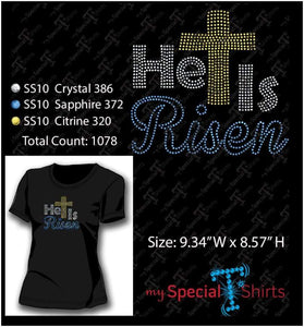 He Is Risen Rhinestone Digital Download Mst - Be Createful - Becreateful.com