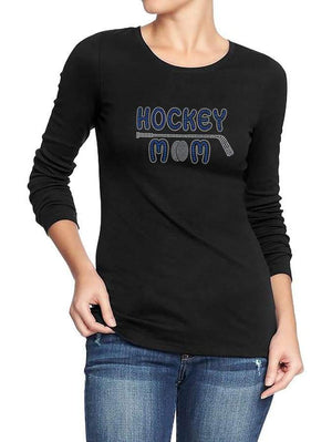 Hockey Mom With Stick Rhinestone Digital Download Mst - Be Createful - Becreateful.com