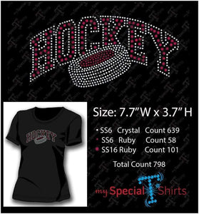 Hockey Rhinestone Digital Download Mst - Be Createful - Becreateful.com