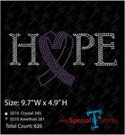 Hope Purple Heart Cancer Awareness Ribbon, Instant Download Vector Design, Digital Download (.svg, dxf .eps) Rhinestone Transfer file