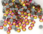 Glass Red Flame Hot-Fix Rhinestones
