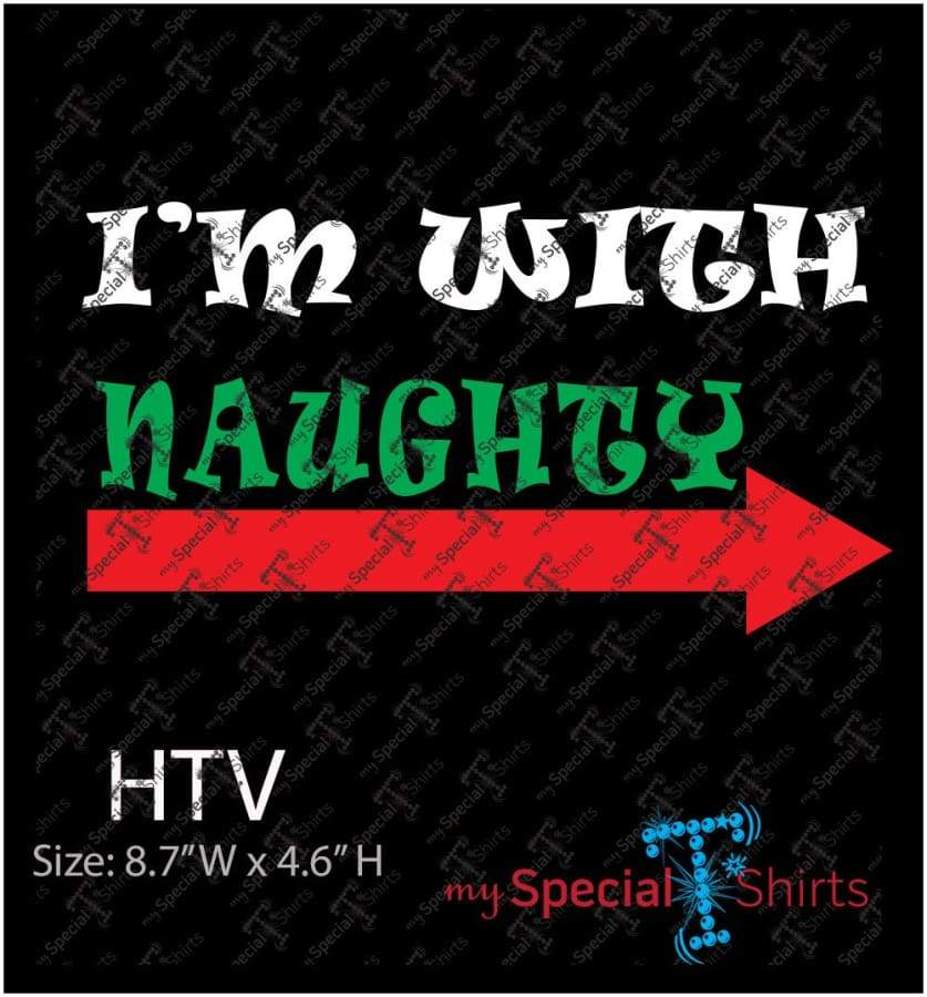 Im With Naughty-Im With Nice Rhinestone Digital Download Mst - Be Createful - Becreateful.com