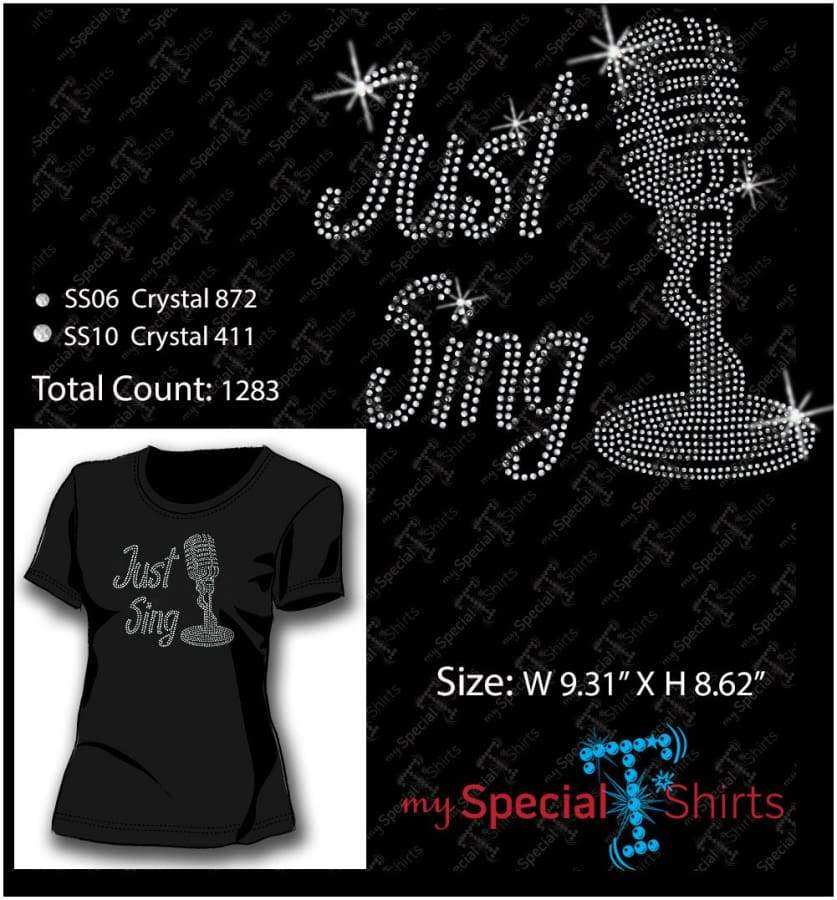 Just Sing Rhinestone Digital Download Mst - Be Createful - Becreateful.com