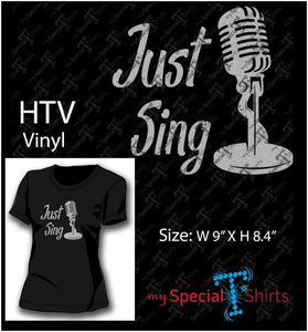 Just Sing Vector Digital Download Mst - Be Createful - Becreateful.com