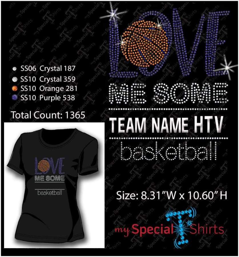 Love Me Some Basketball Rhinestone Digital Download Mst - Be Createful - Becreateful.com