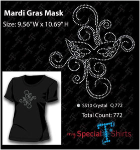 Mardi Gras Rhinestone Digital Download Mst - Be Createful - Becreateful.com