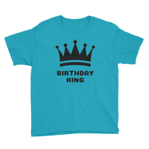 Birthday King Youth Short Sleeve T-Shirt