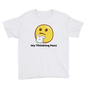 My Thinking Face Youth Short Sleeve T-Shirt