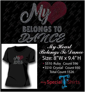 My Heart Belongs To Dance Rhinestone Digital Download Mst - Be Createful - Becreateful.com