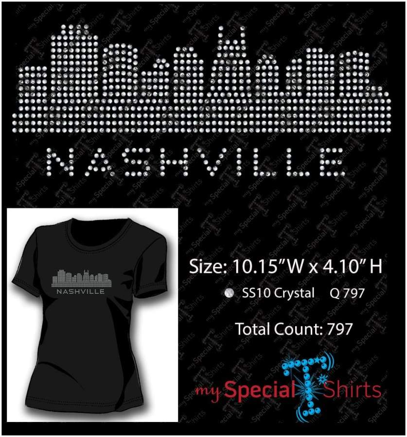 Nashville Skyline Ss10 Rhinestone Digital Download Mst - Be Createful - Becreateful.com