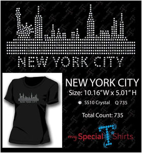 New York Skyline Ss10 Rhinestone Digital Download Mst - Be Createful - Becreateful.com