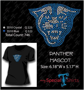 Panther Rhinestone Digital Download Mst - Be Createful - Becreateful.com