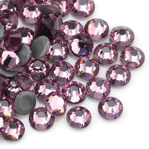 Glass Amethyst Hot-Fix Rhinestones