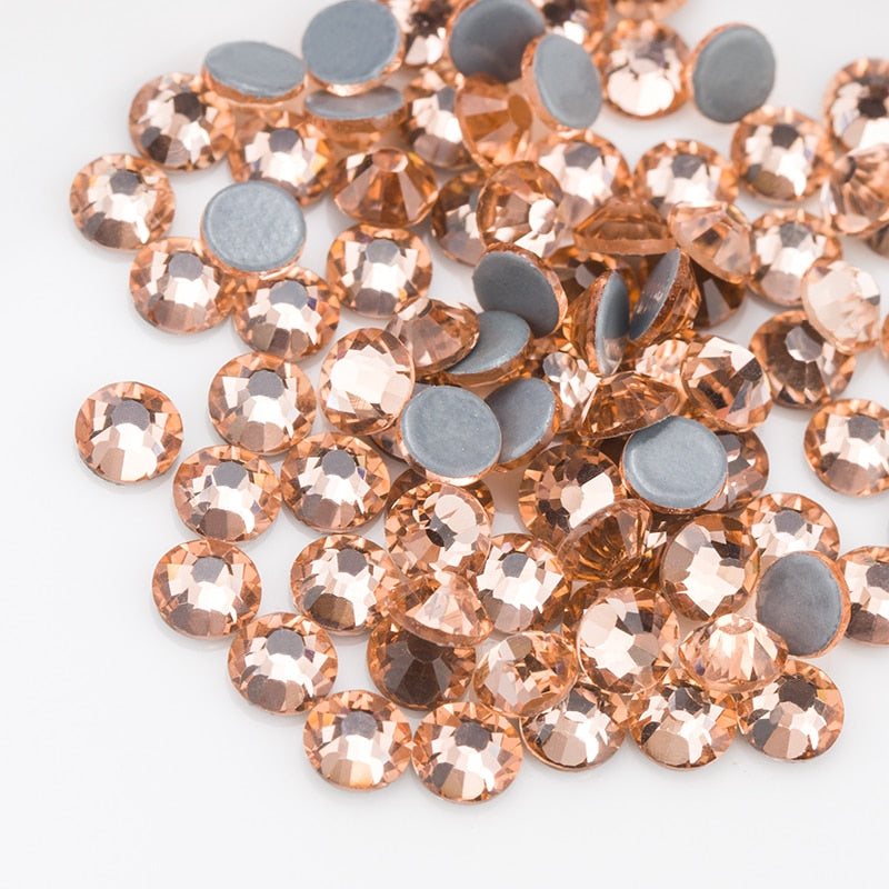 Glass Champagne Hot-Fix Rhinestones