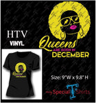 Queens Are Born In With Months Vector Digital Download Mst - Be Createful - Becreateful.com