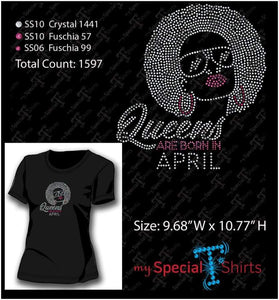 Queens Are Born Includes All 12 Months Bundle Rhinestone Digital Download Mst - Be Createful - Becreateful.com