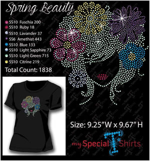 Spring Beauty Rhinestone Digital Download Mst - Be Createful - Becreateful.com