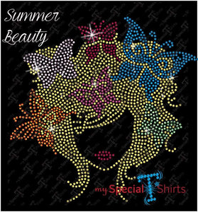 Summer Beauty Rhinestone Digital Download Mst - Be Createful - Becreateful.com