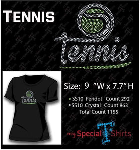Tennis Rhinestone Digital Download Mst - Be Createful - Becreateful.com