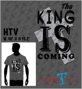 The King Is Coming 1 Vector Digital Download Mst - Be Createful - Becreateful.com
