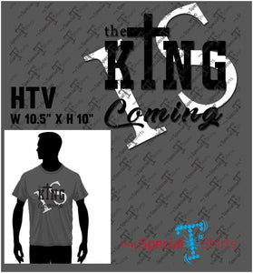 The King Is Coming 2 Vector Digital Download Mst - Be Createful - Becreateful.com