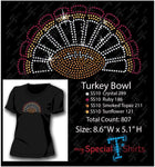 Turkey Bowl Rhinestone Digital Download Mst - Be Createful - Becreateful.com