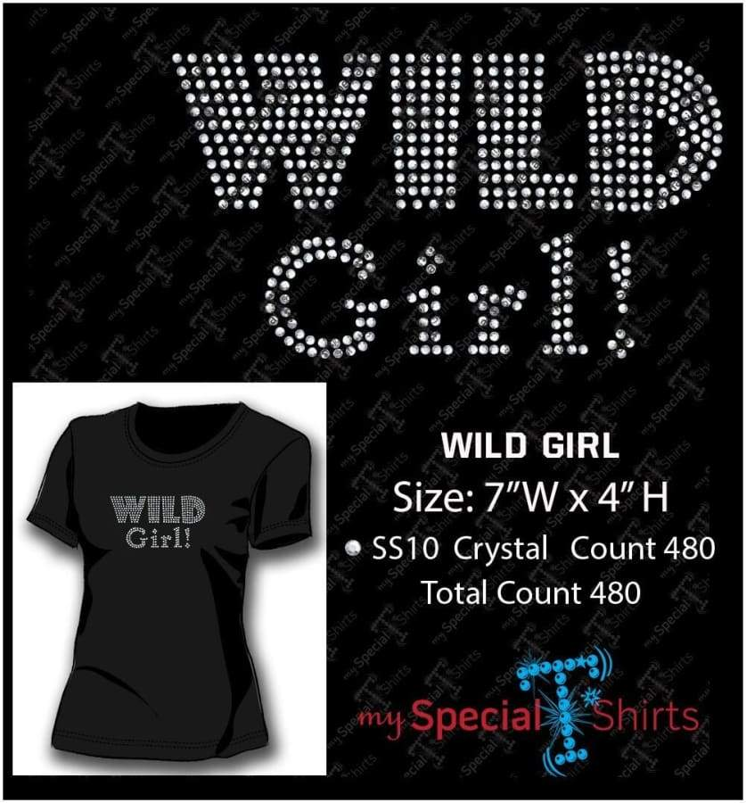 Wild Girl Rhinestone Digital Download Mst - Be Createful - Becreateful.com