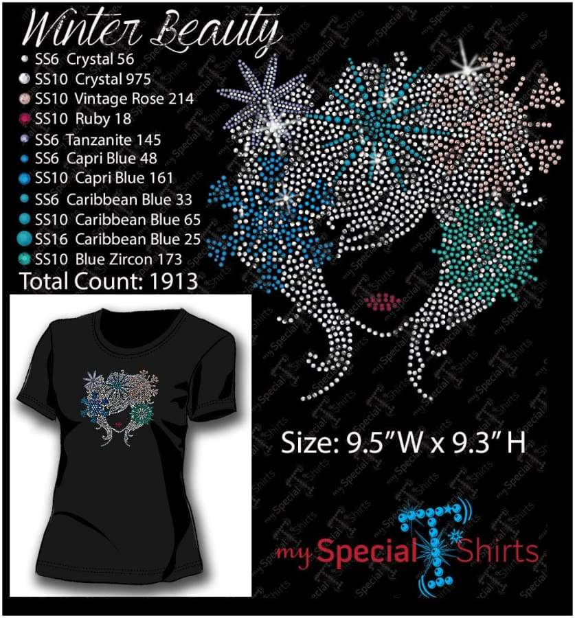 Winter Beauty Rhinestone Digital Download Mst - Be Createful - Becreateful.com