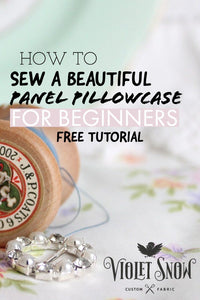 Free Panel Pillowcase Tutorial