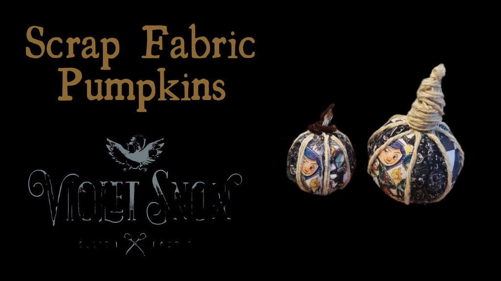 Scrap Fabric Pumpkins!!!!