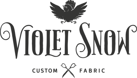 Violet Snow Custom Fabric