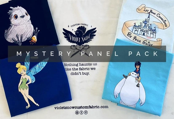 Copy of RETAIL RTS Mystery Panel Packs! (Shipping included in Price) Violet Snow Custom Fabric