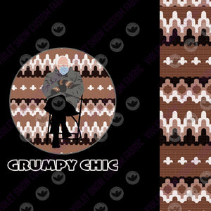 Flash Pre Order - Grumpy Chic- Small Blanket Set PRE ORDER BLANKET SET Violet Snow Custom Fabric