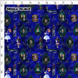 Haunted Together PRE ORDER YARD Violet Snow Custom Fabric Cotton Spandex 240 GSM Small