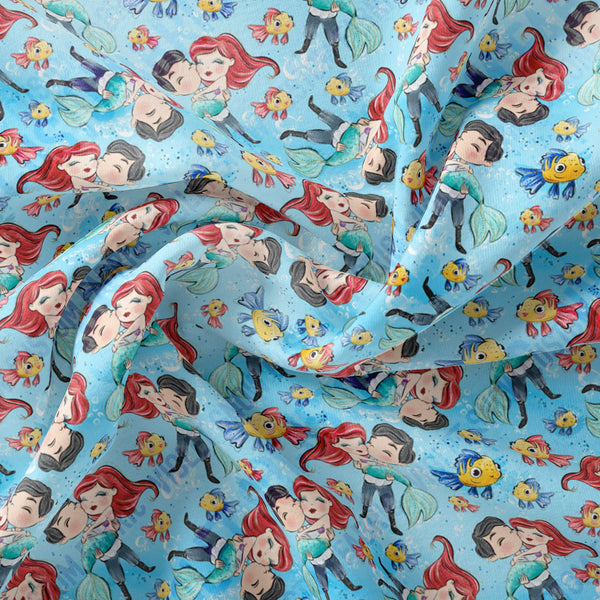 Limited Pre Order - Ariel and Eric PRE ORDER YARD Violet Snow Custom Fabric