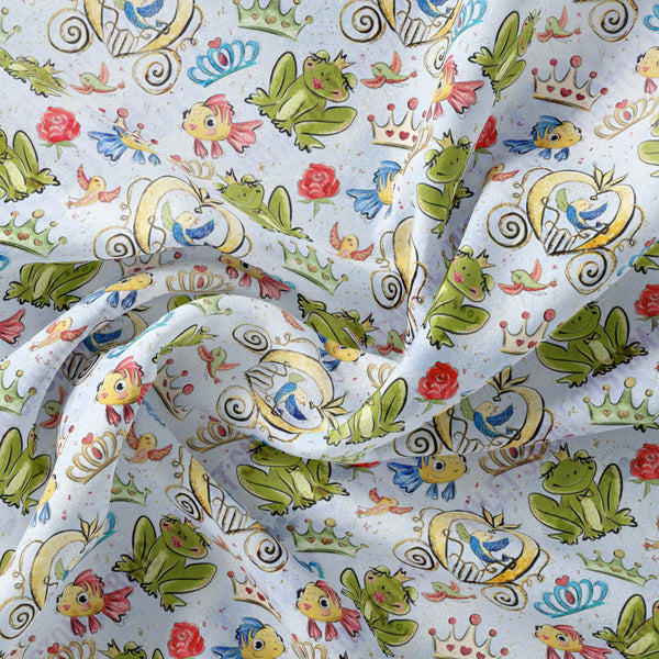 Limited Pre Order - Fairytale Friends PRE ORDER YARD Violet Snow Custom Fabric