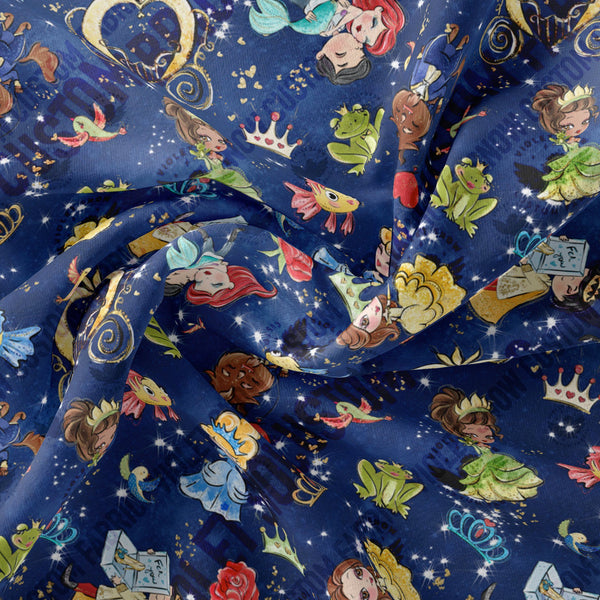 Limited Pre Order - Fairytale Magic PRE ORDER YARD Violet Snow Custom Fabric